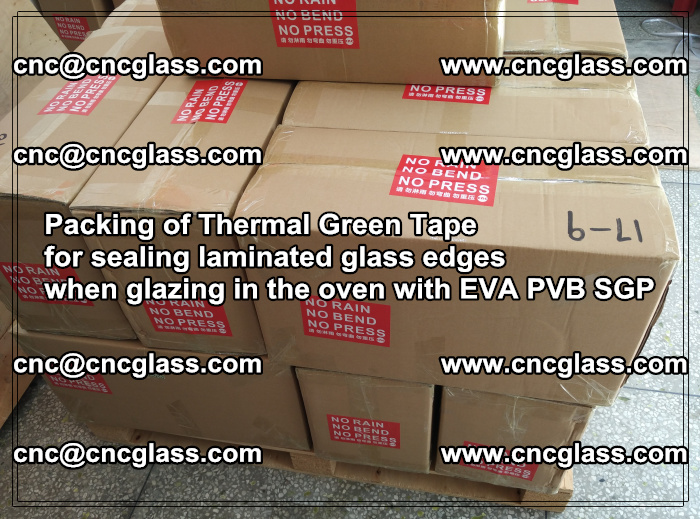Packing of Thermal Green Tape for sealing laminated glass edges (81)