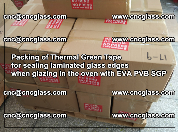 Packing of Thermal Green Tape for sealing laminated glass edges (83)