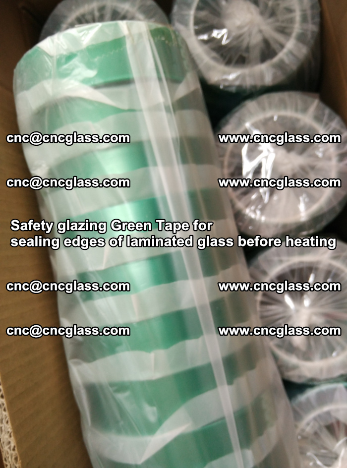 Safety glazing Green Tape for seal edges of laminated glass before heating (52)