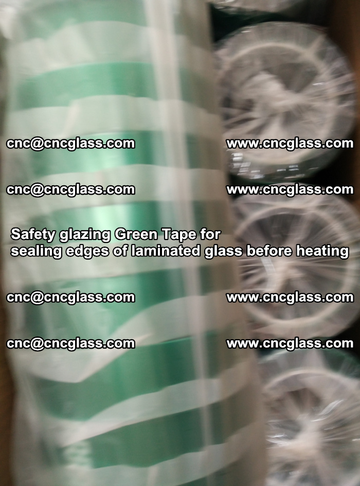 Safety glazing Green Tape for seal edges of laminated glass before heating (60)