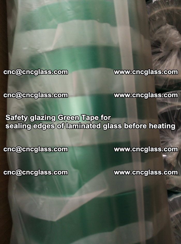 Safety glazing Green Tape for seal edges of laminated glass before heating (63)