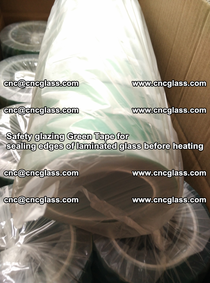 Safety glazing Green Tape for seal edges of laminated glass before heating (81)