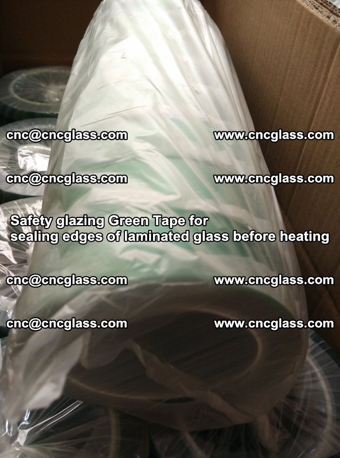 Safety glazing Green Tape for seal edges of laminated glass before heating (82)