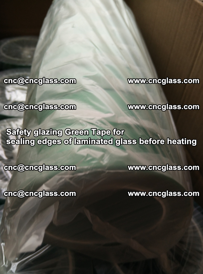 Safety glazing Green Tape for seal edges of laminated glass before heating (84)