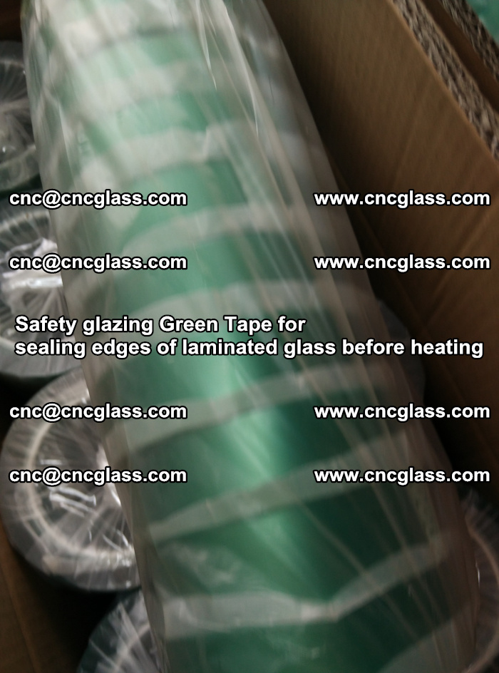 Safety glazing Green Tape for seal edges of laminated glass before heating (87)