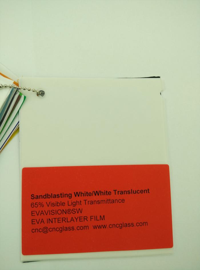 Sandblasting White Ethylene Vinyl Acetate Copolymer EVA interlayer film for laminated glass safety glazing (1)