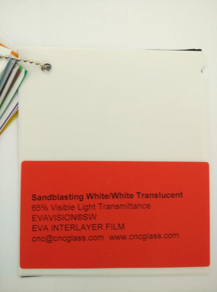 Sandblasting White Ethylene Vinyl Acetate Copolymer EVA interlayer film for laminated glass safety glazing (10)
