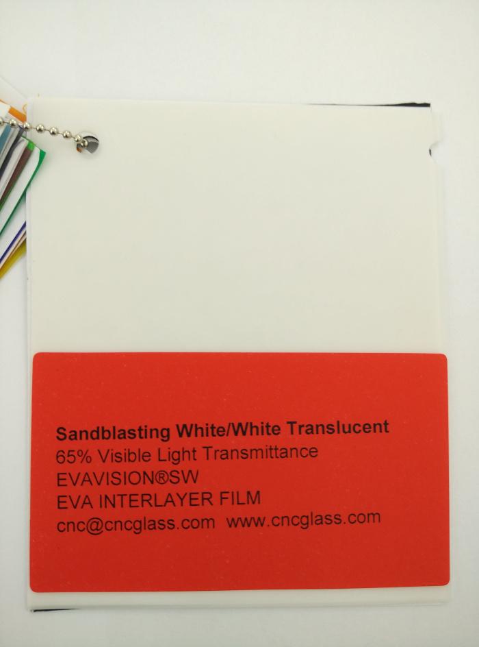 Sandblasting White Ethylene Vinyl Acetate Copolymer EVA interlayer film for laminated glass safety glazing (11)