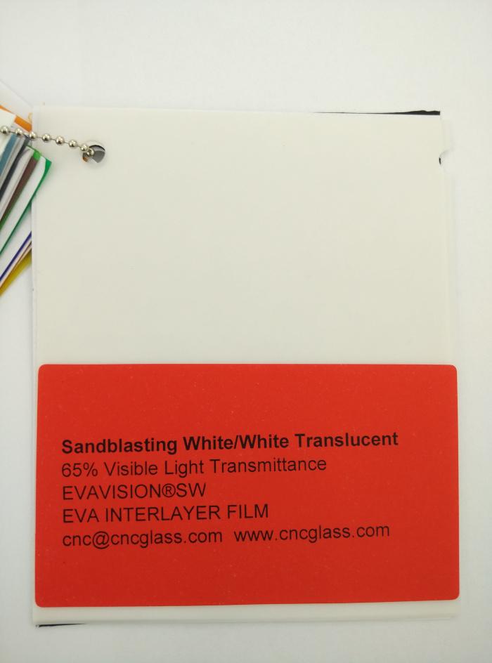 Sandblasting White Ethylene Vinyl Acetate Copolymer EVA interlayer film for laminated glass safety glazing (12)