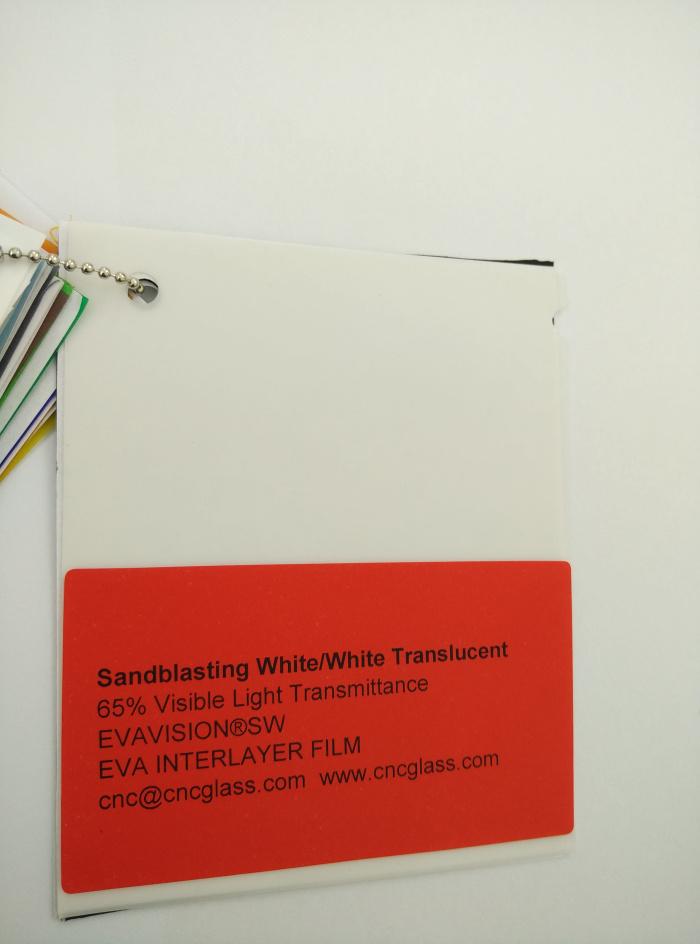 Sandblasting White Ethylene Vinyl Acetate Copolymer EVA interlayer film for laminated glass safety glazing (14)