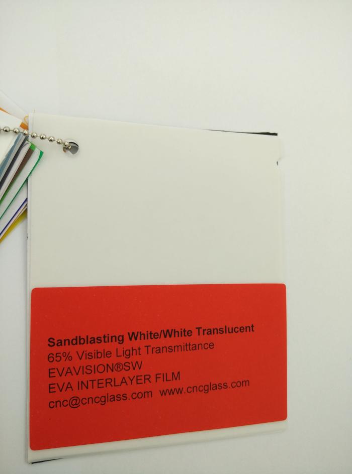Sandblasting White Ethylene Vinyl Acetate Copolymer EVA interlayer film for laminated glass safety glazing (15)