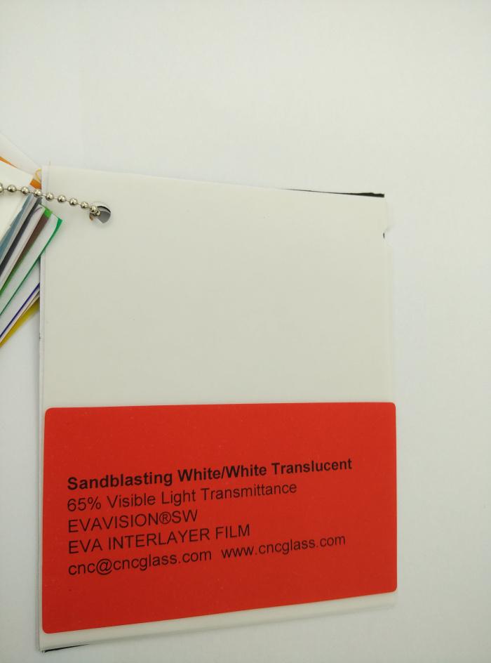 Sandblasting White Ethylene Vinyl Acetate Copolymer EVA interlayer film for laminated glass safety glazing (17)