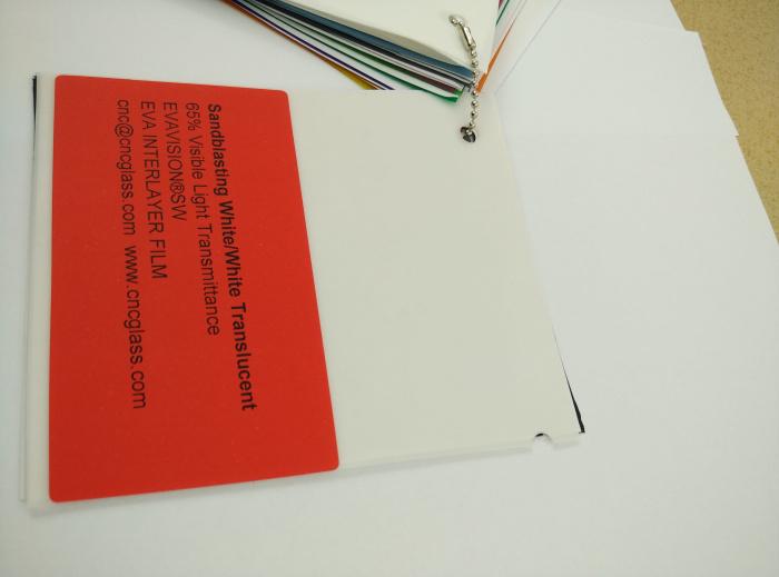 Sandblasting White Ethylene Vinyl Acetate Copolymer EVA interlayer film for laminated glass safety glazing (18)