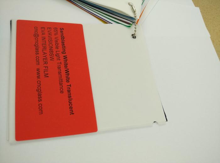 Sandblasting White Ethylene Vinyl Acetate Copolymer EVA interlayer film for laminated glass safety glazing (19)
