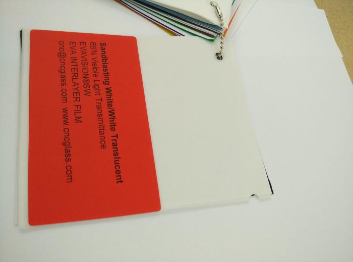 Sandblasting White Ethylene Vinyl Acetate Copolymer EVA interlayer film for laminated glass safety glazing (20)