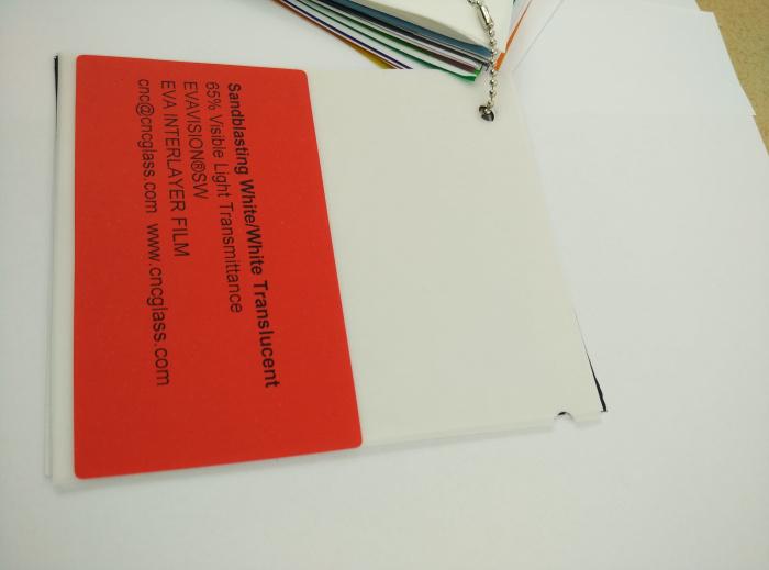 Sandblasting White Ethylene Vinyl Acetate Copolymer EVA interlayer film for laminated glass safety glazing (22)