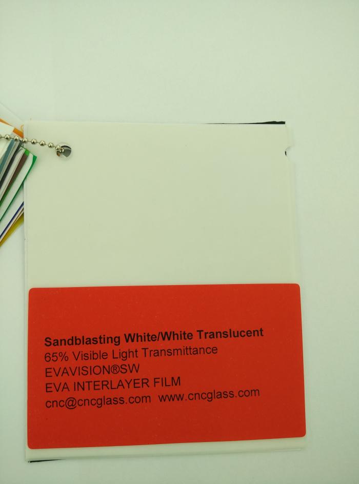 Sandblasting White Ethylene Vinyl Acetate Copolymer EVA interlayer film for laminated glass safety glazing (3)