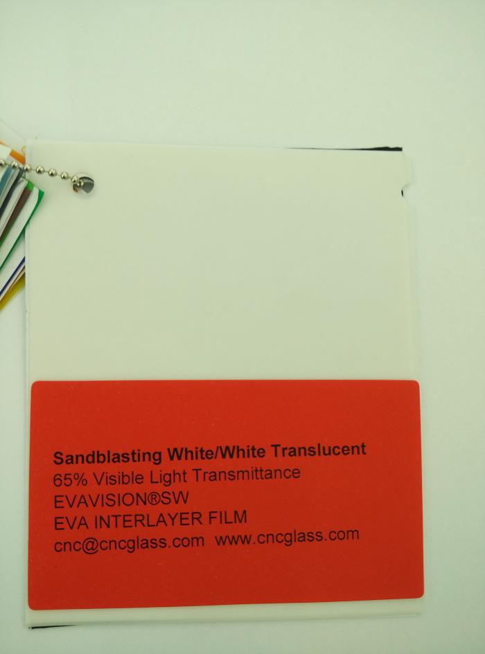 Sandblasting White Ethylene Vinyl Acetate Copolymer EVA interlayer film for laminated glass safety glazing (5)