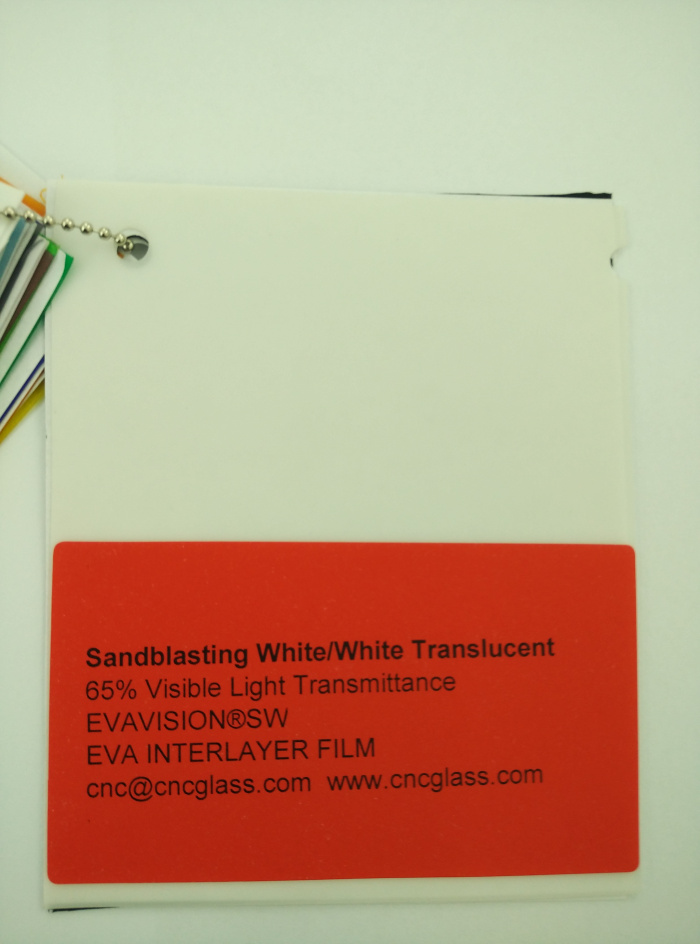 Sandblasting White Ethylene Vinyl Acetate Copolymer EVA interlayer film for laminated glass safety glazing (6)