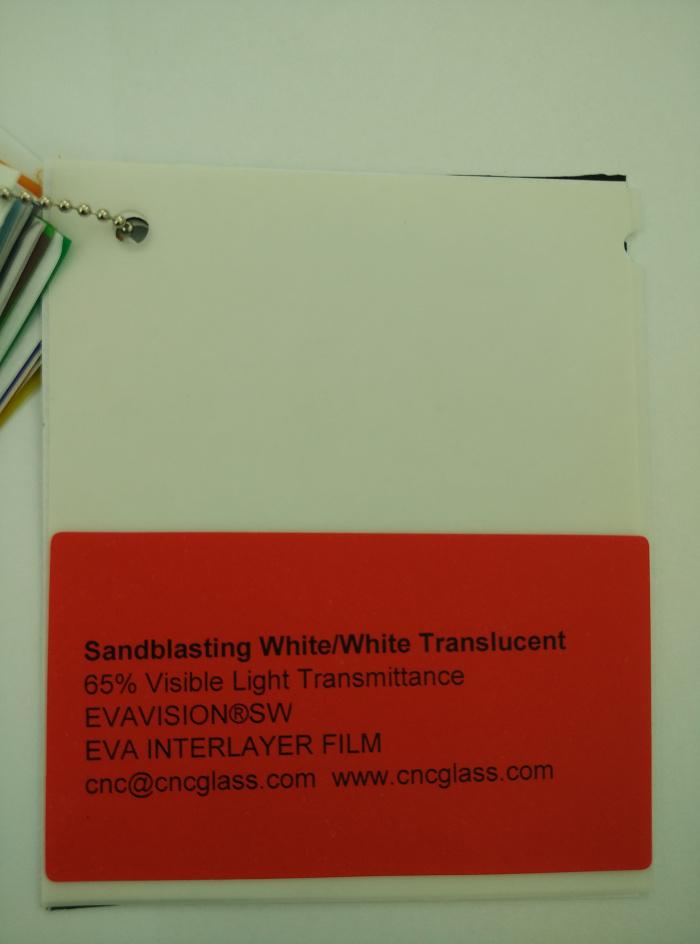 Sandblasting White Ethylene Vinyl Acetate Copolymer EVA interlayer film for laminated glass safety glazing (7)