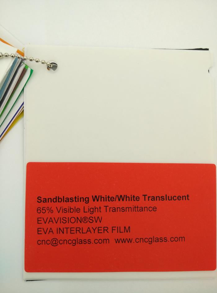 Sandblasting White Ethylene Vinyl Acetate Copolymer EVA interlayer film for laminated glass safety glazing (9)