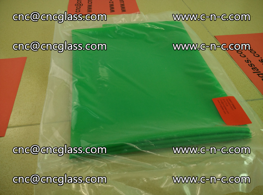 EVA glass interlayer film transparent color LIGHT green (5)