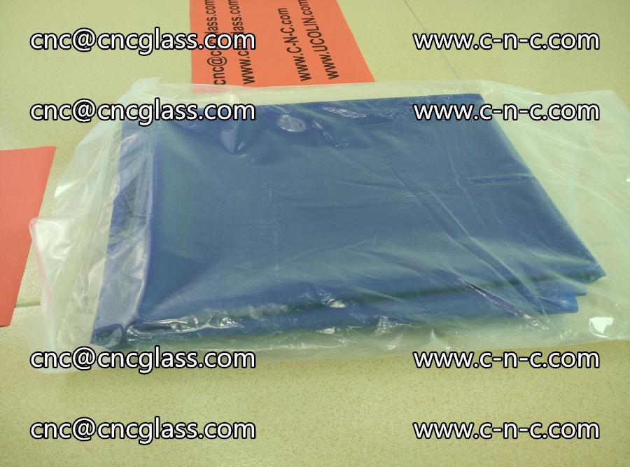 EVA glass interlayer film transparent color blue (4)