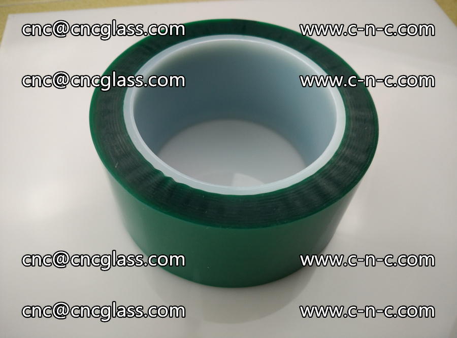PET GREEN TAPE for laminated glass safety glazing (25)