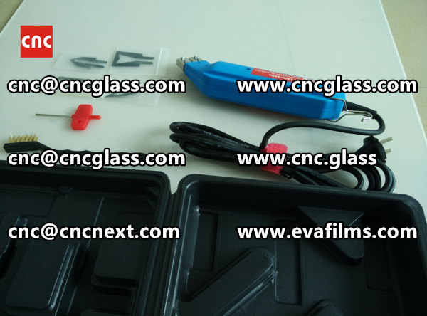 HEATING HOT KNIFE TRIMMING LAMINATED GLASS INTERLAYER REMAINS (1)
