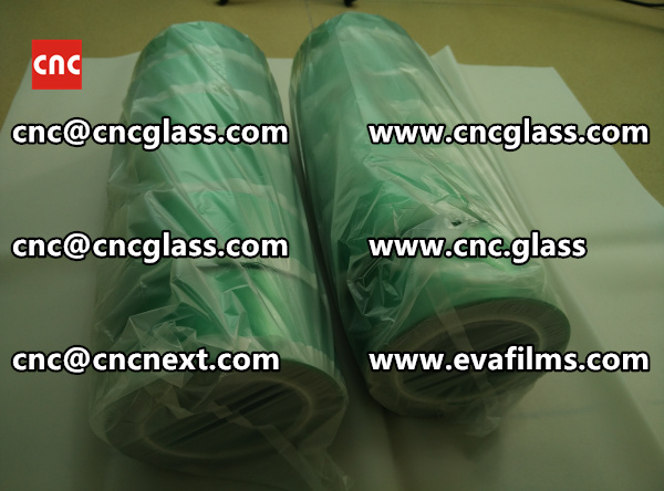 HIGH TEMPERATURE PET GREEN TAPE for safety glazing  (2)