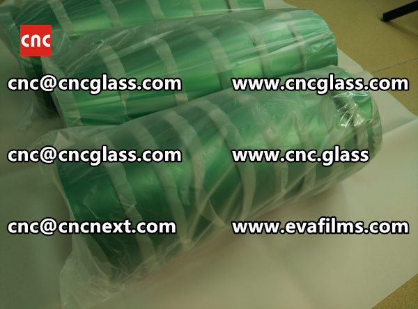 SILICONE PET GREEN TAPE high temp resistance, for glass safety glazing (1)