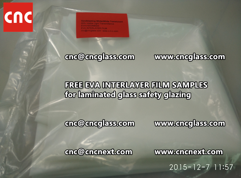 CROSS LINKED EVA INTERLAYER samples for safety glass laminated (1)