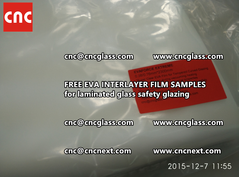 CROSS LINKED EVA INTERLAYER samples for safety glass laminated (11)