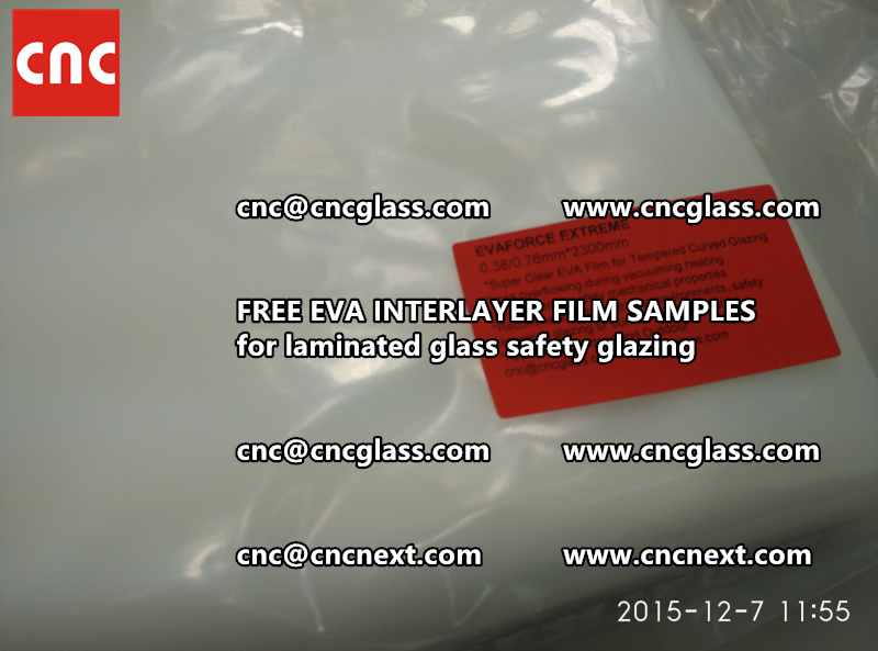 CROSS LINKED EVA INTERLAYER samples for safety glass laminated (13)