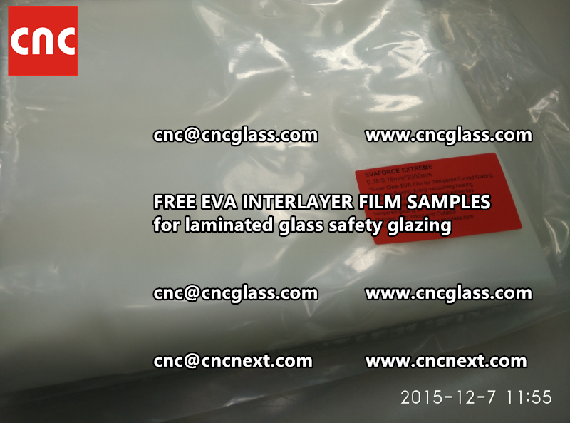 CROSS LINKED EVA INTERLAYER samples for safety glass laminated (14)