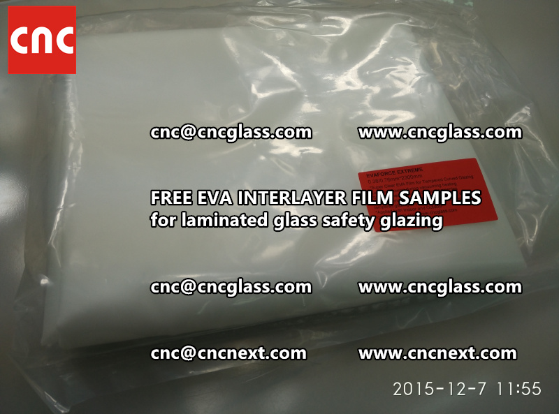 CROSS LINKED EVA INTERLAYER samples for safety glass laminated (16)