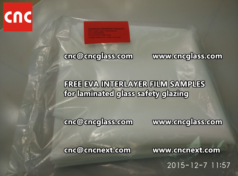 CROSS LINKED EVA INTERLAYER samples for safety glass laminated (17)