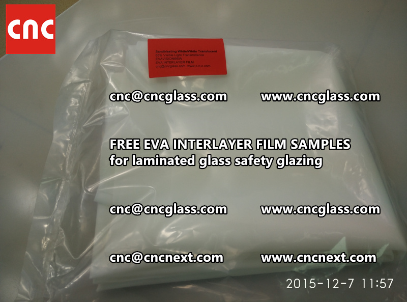 CROSS LINKED EVA INTERLAYER samples for safety glass laminated (19)