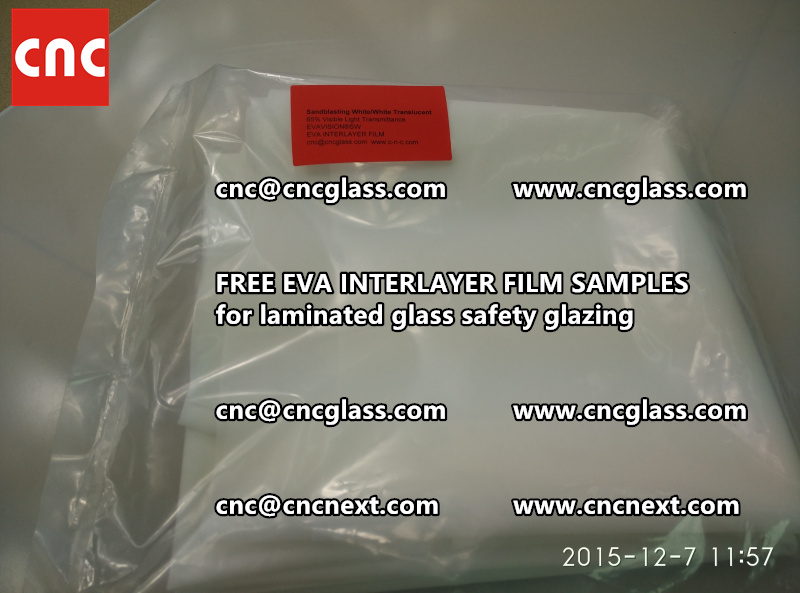 CROSS LINKED EVA INTERLAYER samples for safety glass laminated (21)