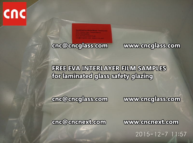 CROSS LINKED EVA INTERLAYER samples for safety glass laminated (22)