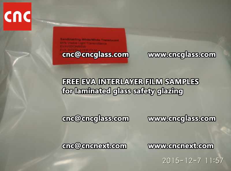 CROSS LINKED EVA INTERLAYER samples for safety glass laminated (32)