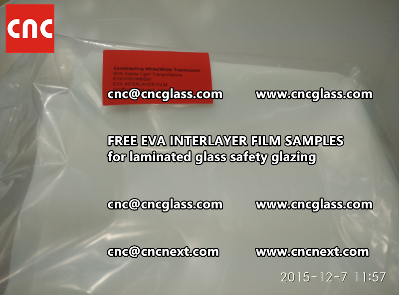 CROSS LINKED EVA INTERLAYER samples for safety glass laminated (33)