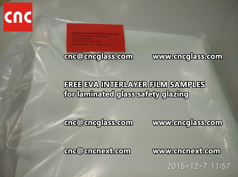 CROSS LINKED EVA INTERLAYER samples for safety glass laminated (35)