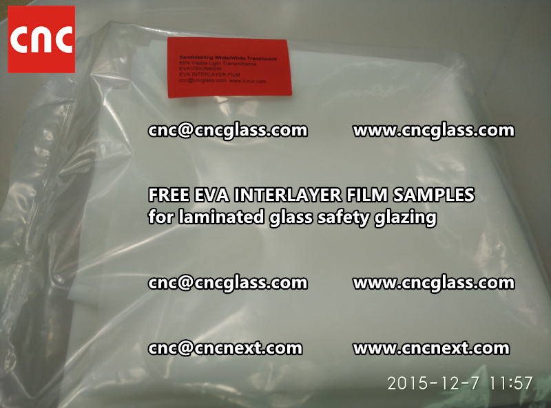 CROSS LINKED EVA INTERLAYER samples for safety glass laminated (37)