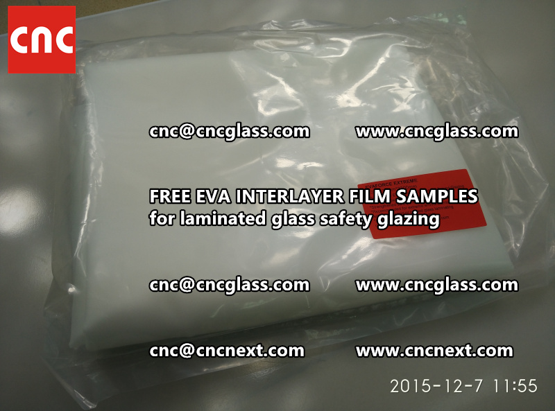 CROSS LINKED EVA INTERLAYER samples for safety glass laminated (5)
