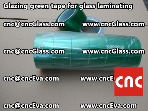 Green tape for safety glass laminating glazing (4)