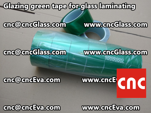 Green tape for safety glass laminating glazing (7)
