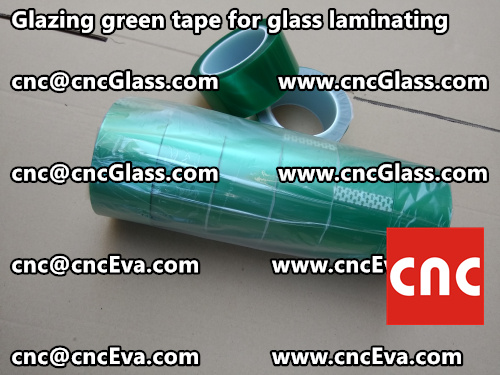 Green tape for safety glass laminating glazing (8)