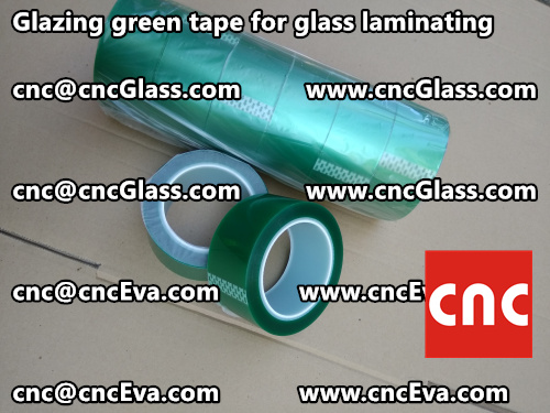 vacuum green tape for glazing (1)