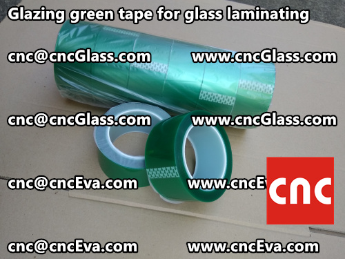 vacuum green tape for glazing (2)
